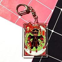 Móc khóa CHỮ NHẬT Jibaku Shounen Hanako-kun Ác quỷ trong nhà xískin mica trong acrylicchibi animecute
