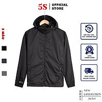 Áo Khoác Nam Vải Gió 5S (7 màu), Mũ Rời, Mềm Mại, Chống Thấm Nước, Cản Gió, Giữ Ấm Cực Tốt (AKG21012)