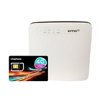 Bộ phát wifi 4G Huawei E5186 tốc độ 300Mbps + Sim 4G Viaphone trọn Gói 12 Tháng   5.5GB/Tháng - Hàng Nhập khẩu