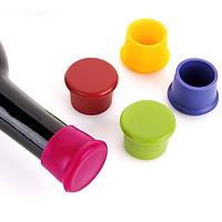 Set 5 nút chai silicon giao màu ngẫu nhiên