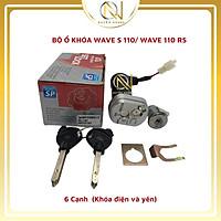 Bộ ổ khóa xe Wave S110 và Wave RS, Wave Anpha đời 2017 đến nay