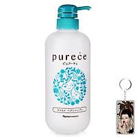 Dầu gội Naris Purece Mild Hair Shampoo Nhật Bản 550ml tặng kèm móc khoá