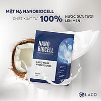Mặt nạ giấy Laco Biocell xanh - Thải độc, phục hồi da, giảm lão hóa, trẻ hóa làn da, giúp mờ nám và nếp nhăn, tái tạo làn da tươi trẻ với công nghệ nano biocell tăng hiệu quả gấp 20 lần - Sản phẩm chính hãng