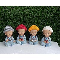 bộ 4 chú tiểu vui nhộn đội nón len