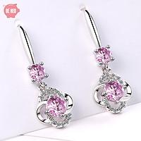 Bông tai bạc nữ hoa 4 cánh - Khuyên tai bạc nữ - Trang sức Bé Heo BHBT449