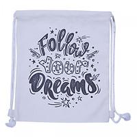 Túi Dây Rút Canvas Cá Chép - Follow Your Dreams 2 (35 x 40 cm)