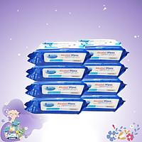 Combo thùng 8 gói Khăn ướt cồn kháng khuẩn cao cấp iHomeda ( 80 Miếng/ Gói) - Combo 8 of iHomeda premium anti-bacteria alcohol wipes ( 80 sheets per packpage) Mã sản phẩm: