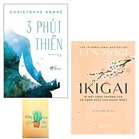 Combo 3 Phút Thiền và Ikigai - Bí Mật Sống Trường Thọ Và Hạnh Phúc Của Người Nhật ( Tặng Kèm Sổ Tay )