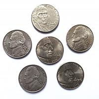 [Tiền thật]Xu lưu niệm - Bộ 6 xu Jerferson 5 cent dùng để sưu tầm, làm quà lưu niệm - XTG003