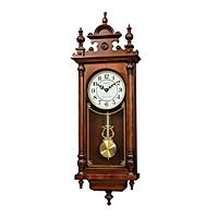 Đồng hồ treo tường RHYTHM SIP (Sound In Place) Wall Clocks CMJ583NR06 (Kích thước 28.0 x 80.0 x 12.0cm), Vỏ màu Nâu
