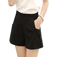 Quần short nữ ống rộng màu đen freesize dành cho...