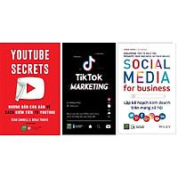 COMBO SÁCH Tiktok Marketing+ Lập kế hoạch kinh doanh trên mạng xã hội+ Kiếm Tiền Từ Youtube