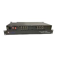 Bộ chuyển đổi quang Video 16 kênh GNETCOM HL-16V-20T/R-720P (2 thiết bị) - Hàng Chính Hãng