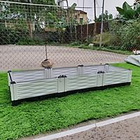 CHẬU GHÉP THÔNG MINH (150x50x23)Cm: Bền từ 8-10 năm, phù hợp mọi cây trồng và không gian, Module tùy biến kích thước, an toàn, trọng lượng nhẹ, kết cấu chắc chắn, có khay trữ và thoát nước.
