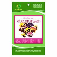 Combo 2 gói Hạt giống hoa Viola (Pansy) Mix Golden Seeds 50 Hạt