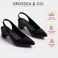 Giày cao gót Erosska thời trang mũi nhọn phối dây hở gót cao 5cm EH015