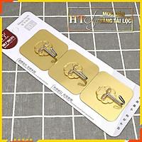 Bộ 3 móc dán chịu lực  treo tường-HT SYS-Màu Vàng Tài Lộc