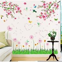 Decal dán tường Combo mùa xuân AmyShop (150 x 150 cm)