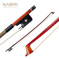 NAOMI VB0908-029 Classic Brazilwood 4/4 Violin Bow Light Weight Proper Balance Mongolian Horsehair Bow Hairs Ebnoy Frog