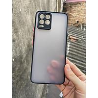 Ốp lưng nhám mờ cho Oppo Realme 8, Realme 8 Pro chống sốc, bảo vệ Camera (đen)