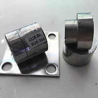 Bản lề cối xoay cửa cổng chịu lực - Chất liệu Inox 304 Ø38 (Bộ 2) - Dùng cho cửa 1 cánh