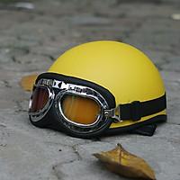 Mũ Bảo Hiểm nửa đầu SRT - 1/2 đầu Tặng Kính Phi Công, kính Uv màu bất kỳ - Hàng Chính Hãng