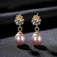 Khuyên Tai Ngọc Trai Cao Cấp B2548 - Bảo Ngọc Jewelry