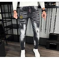 Quần jeans nam D2 co dãn thoải mái vảy sơn phối rách kiểu dáng trẻ trung phong cách mới Julido thời trang hàn quốc