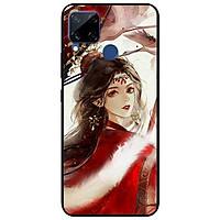 Ốp lưng dành cho Realme C15 mẫu Cô Gái Áo Choàng