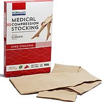 Vớ gối y khoa suy giãn tĩnh mạch chân Biohealthy + kèm găng tay mang vớ