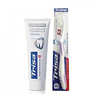 Kem Đánh Răng TRISA Perfect White 75ml + Tặng Kèm Bàn Chải Đánh Răng Trisa Uno