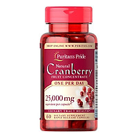 Thực Phẩm Chức Năng - Viên Uống Giảm Viêm Đường Tiết Niệu, Giảm Tiểu Dắt, Chống Oxy Hóa Puritan'S Pride Natural Cranberry (60 Viên)