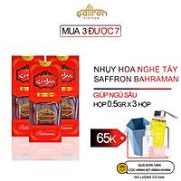 Nhụy Hoa Nghệ Tây SAFFRON BAHRAMAN Combo 3 hộp 0,5Gr/hộp
