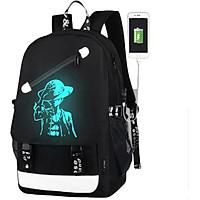 Combo Balo thời trang nam Ohazo cao cấp hình Luffy độc lạ + tặng cáp sạc USB