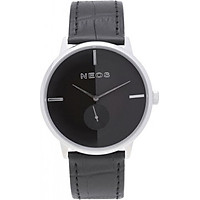 Đồng hồ Neos N-40679M nam dây da đen