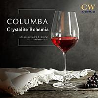 Ly Rượu Vang Đỏ Pha Lê Tiệp Chính Hãng Crystalite Bohemia Columba Cao Cấp 650ml