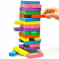 Đồ chơi rút gỗ màu, xếp hình domino loại size to 48