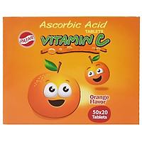 Viên Ngậm Bổ Sung Vitamin C Patar Thái Vị Cam (Hộp 50 gói x 20 viên)
