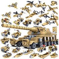 Bộ xếp hình xe tăng KAVY với 554 chi tiết, 16 tạo hình lớn, rất nhiều chi tiết khác nhau.. cả nhà cùng chơi