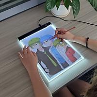 Bảng Vẽ Đèn LED Hắt Sáng 3 Cấp Độ Khổ A4 Cao Cấp BV01