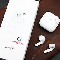 Tai nghe bluetooth cảm ứng Pagini PRO4 – Tặng dây sạc 3 đầu – Đổi tên, định vị, chống ồn - TAIPRO4W.CAP001 - Hàng nhập khẩu