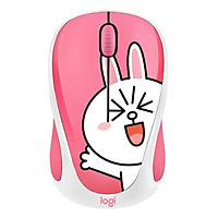 Logitech LINE FRIENDS Wireless Mouse 2.4GHz Mini Cartoon USB Receiver Optical Sensor Office Gaming Mouse for PC LaptopBlue||France
