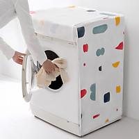 Vỏ Bọc Máy Giặt Áo Trùm Máy Giặt PVC Chống Nước Chống Bụi Cửa Ngang, Cửa Trước Cửa Hông Họa Tiết Hình Khối