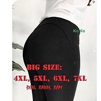 Quần legging nữ dáng dài nâng mông big size