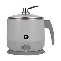 Ca nấu đa năng Mishio MK214 600W 1,5L inox 304, nấu nước, nấu mì, lẩu - Màu trắng - Hàng chính hãng