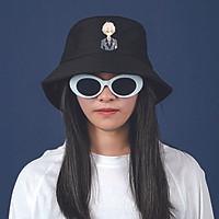 Mũ bucket đen in hình MỘT NGÀY NỌ TÔI TRỞ THÀNH CÔNG CHÚA anime mũ nam nữ đi chơi đi học