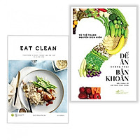 Combo Sách Nấu Ăn - Để Ăn Không Phải Băn Khoăn + EAT CLEAN Thực Đơn 14 Ngày Thanh Lọc Cơ Thể Và Giảm Cân - (Tặng Kèm Bookmark)