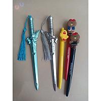 Bút Bi Kiếm 2 màu - 3 Bút Gấu