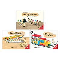 Combo Ehon Nhật Bản BÚT SÁP MÀU ĐEN: Bút Sáp Trẻ Em + Những Người Bạn Kì Lạ + Con Ma Bí Ẩn (Trọn Bộ 3 Tập Dành Cho Bé Từ 3 - 6 Tuổi/ Tặng Kèm Bookmark Happy Life)