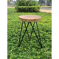 Ghế gỗ cho bàn trà, bàn cà phê chân sắt tam giác